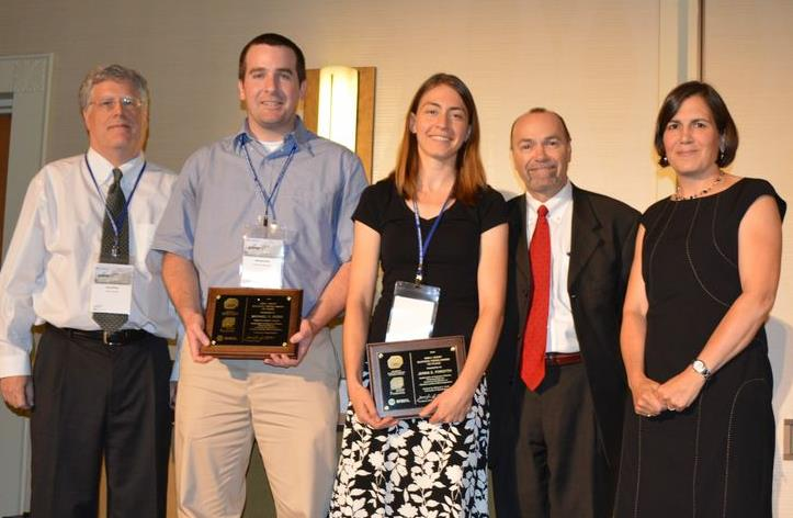 MWH-AEESP Master's Thesis Award winners Jenna E. Forsyth and Michael C. Dodd of the University of Washington